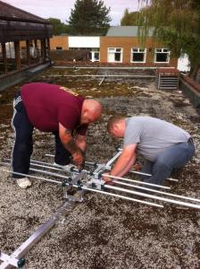 Kev 2E0NCO & John M1JSS grappling with metalwork