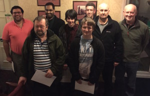 The Record Breakers! (L to R) Jonathon, Zaid, Dave, Mat, Zach, William, Alastair and Kevin